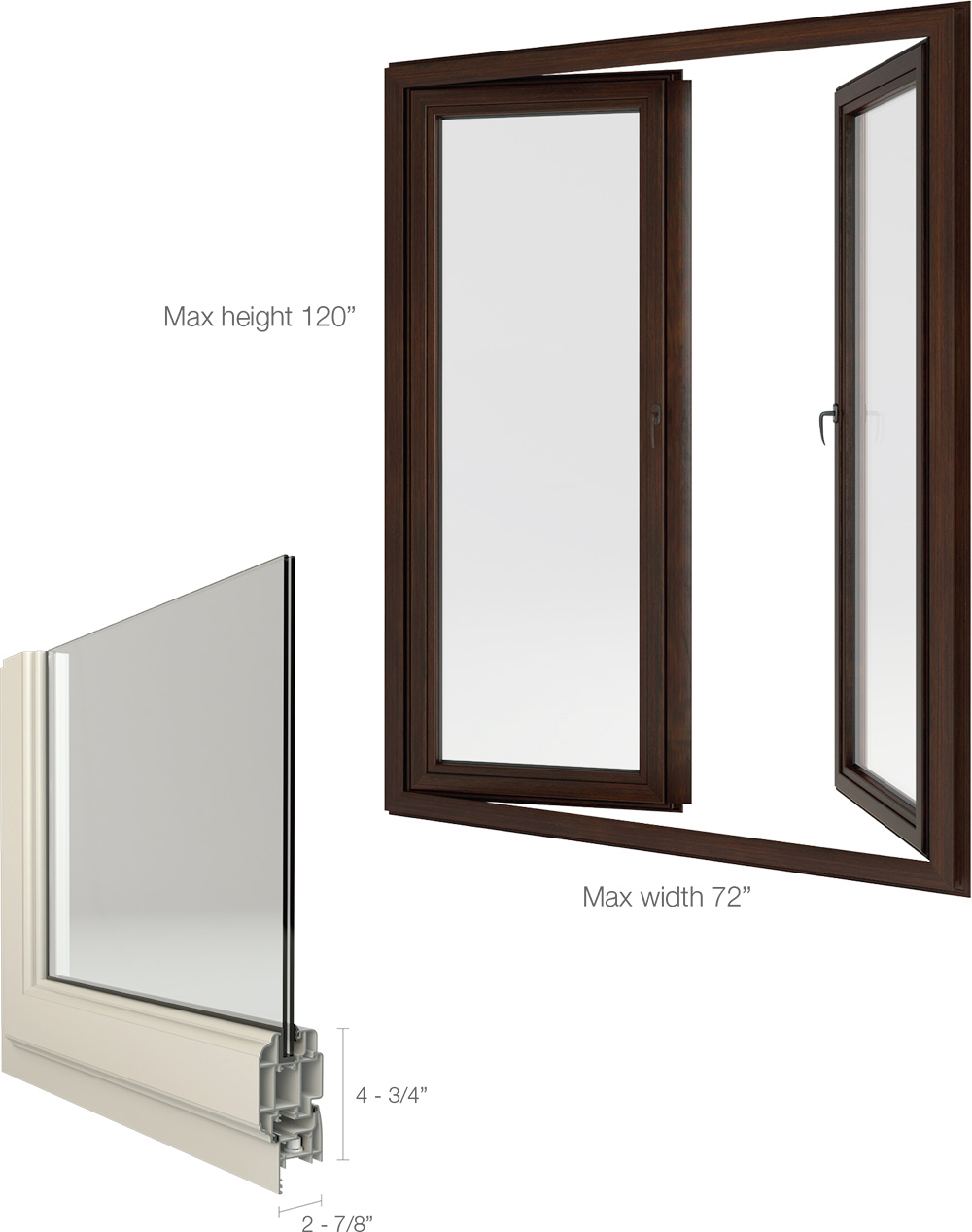 Single casement windows - European Style Push Out Casement Windows Available As Single Or Double Casements The Double Casement Has A Built In Astragal That Moves With The Inactive